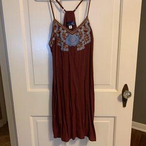 Francesca's Blue Rain embroider dress, size medium